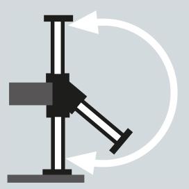 Hydraulisch schwenkbare Abstützzylinder