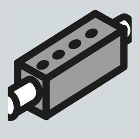 Proportional hydraulic control valve block