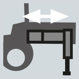 Brazos estabilizadores a salida hidraulica